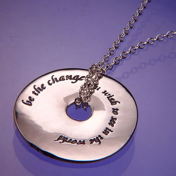 Be The Change Sterling Silver