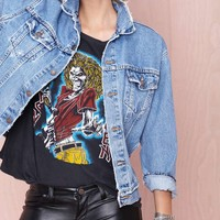 After Party Vintage Wanted Denim Jacket