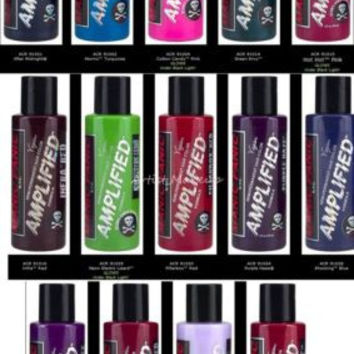 NEW MANIC PANIC AMPLIFIED SEMI PERMANENT VEGAN HAIR COLOR DYE 4 OZ ALL COLORS