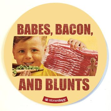 BABES BACON AND BLUNTS DAB PAD