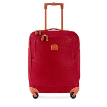 Bric's Designer Travel Bags Life Red Micro Suede Small Trolley