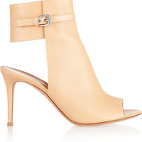 Gianvito Rossi Cutout leather ankle boots – 65% at THE OUTNET.COM