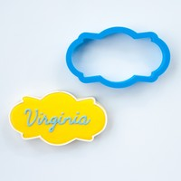 The Virginia Plaque Cookie Cutter