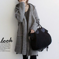 Sweater Jacket Korean Hats Knit Waistband [9052555716]