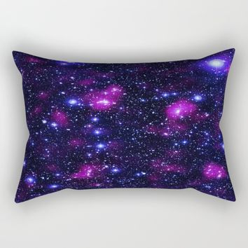 GalAxy Purple Blue Stars Rectangular Pillow by 2sweet4words Designs