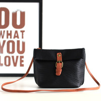 Vintage PU Leather Casual Korean Stylish Simple Design One Shoulder Mini Bags [4915815364]