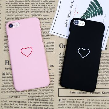 Luxury Ultra Slim Hard Plastic case For iphone 6s 6 7 Plus Candy color Case For iphone 8 Case Plastic Lover Heart Phone Cover