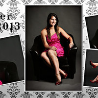 Formal Fleur De Lis Senior Photo Collage 10x20- Designed and Customized Ready For Printing