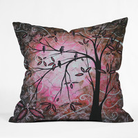 Madart Inc. Cherry Blossoms Throw Pillow