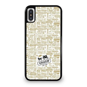 COACH NEW YORK COLLAGE iPhone 5/5S/SE 5C 6/6S 7 8 Plus X/XS Max XR Case Cover
