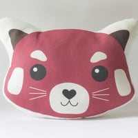Red Panda Pillow Plush - Red Panda Face Cushion