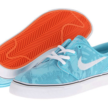 Nike SB Stefan Janoski (Big Kid) Polarized Blue/Safety Orange/White - Zappos.com Free Shipping BOTH Ways