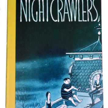 vintage book NIGHTCRAWLERS Chas Addams Family New Yorker Comic Strip zombie vampire