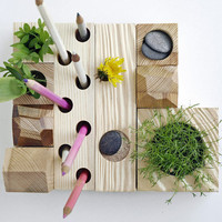 desk organizer desktop Zen Garden natural by KarolinfelixDream