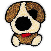 Large Cute 10.5cm Chenille Puppy Dog Patch Applique