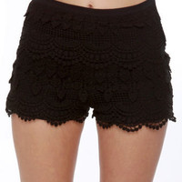 Cute Black Shorts - Lace Shorts - $36.00