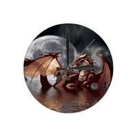 Dragon & Moon Fantasy Wall Clock from Zazzle.com
