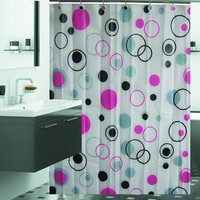 "Cosmic Bubbles Shower Curtain Set - 72"" x 72"""