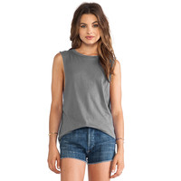 Women's Bobi Grey Cotton Muscle Tee Tank | Overstock.com Shopping - The Best Deals on Tanks & Tees