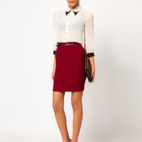 ASOS Belted Pencil Skirt - Black $34.82