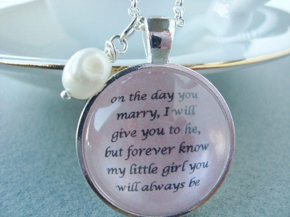 Wedding Gift To Dad From Daughter : Father to Daughter bridal pendant from SweetlySpokenJewelry on