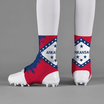 Arkansas State Flag Spats / Cleat Covers