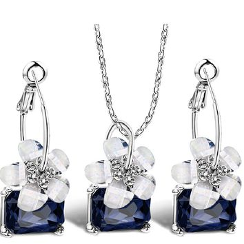Blue Crystal Romantic Fine Bride Sets