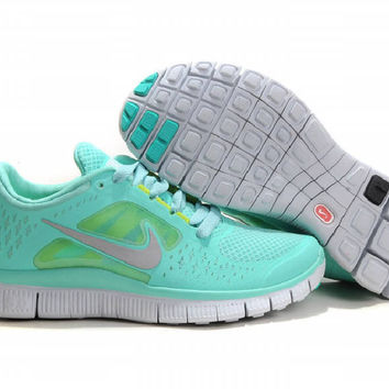 Nike Free Run +3 Women's running shoes Mint Green cheap nike free running shoes,running footwear,trainers,running cleats 2012