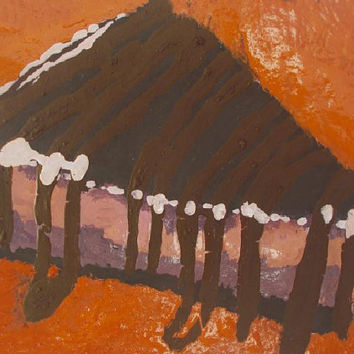 Cake Chocolate Aceo  Original Acrylic painting  wall art  Still life    Aceo   size 6.40 / 8.96 cm  / .2.5 x 3.5  Inch