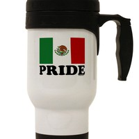 Mexican Pride - Mexican Flag Stainless Steel 14oz Travel Mug by TooLoud
