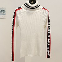 UNIF new autumn and winter primer shirt women's pullovers White
