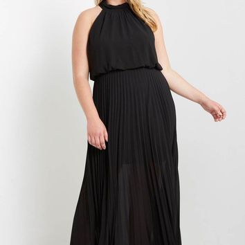 One Last Night Pleated Maxi Dress Plus Size