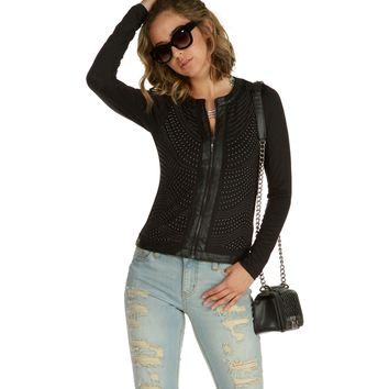 Black Carmin Studded Jacket