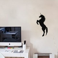 Wall Vinyl Sticker Decal Art Design Unicorn Silhouette Room Nice Picture Decor Hall Wall Chu284