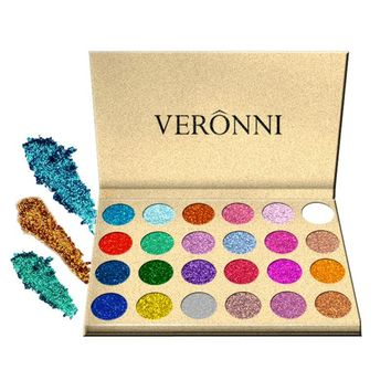 12 Color Rainbow Make Up Cosmetic Eye shadow Magnet Palette Glitter Injections Pressed Glitters Single Eyeshadow Diamond