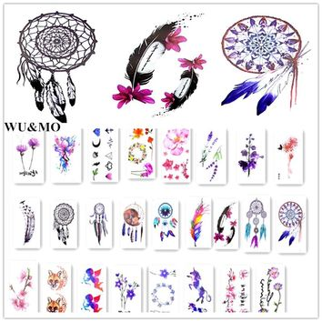 10.5x6cm waterproof temporary tattoo Dreamcatcher Feather tatoo henna fake flash tattoo stickers Taty tatto tattoos tatuajes