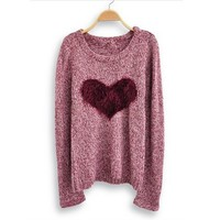 Love Heart Long Sleeve Sweater