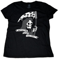 Another One Bites the Crust Grim Reaper Womens T-Shirt