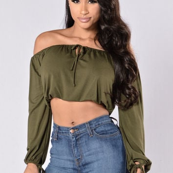 Habana Mama Top - Dark Olive