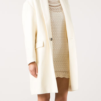 ISABEL MARANT HELIAS MIXED WOOL AND LINEN COAT