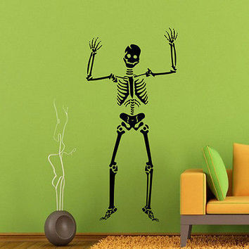 Halloween Wall Decal Skeleton Skull Horror Art Home Decoration Sticker DA3978