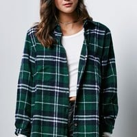 Honey Punch Flannel Button-Down Shirt - Womens Shirts