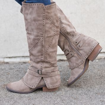 Take You With Me Boots (Taupe)