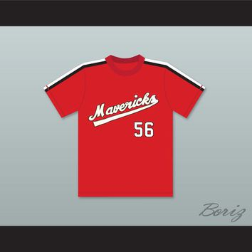 Jim Bouton 56 Portland Mavericks Red Baseball Jersey The Battered Bastards of Baseball