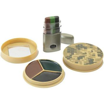 ONETOW HME(TM) HME-CMOFPDS 3 Color Camo Face Paint Kit