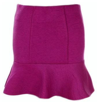 Purple Flared Skirt