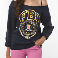 Urban Renewal Off Shoulder Graphic Sweatshirt