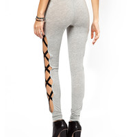 Black Bandage Crisscross Cutout Leggings