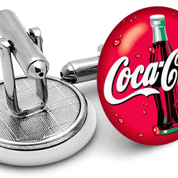 Coca Cola Alternate Logo Cufflinks