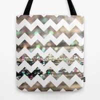 Afterparty Chevron Tote Bag by Beth - Paper Angels Photography